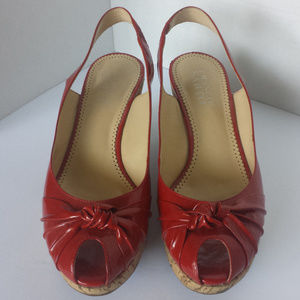 Franco Sarto red wedge heels size 7.5